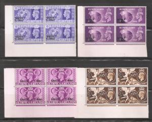 Bahrain 1948,KGVI Olympic Issue,Blocks Sc 64-67,VF MNH** (Lot-2)
