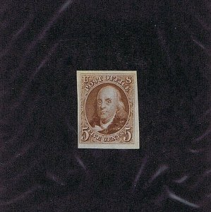 SC# 3 UNUSED, 5C, FRANKLIN, 1875, NO GUM AS ISSUED, 2019 PSAG CERT GRADED XF 90