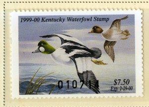 US KY14 KENTUCKY STATE DUCK STAMP 1998 MNH SCV $15.00 BIN $7.50