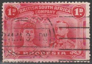 Rhodesia #102 F-VF Used CV $4.50  (V579)