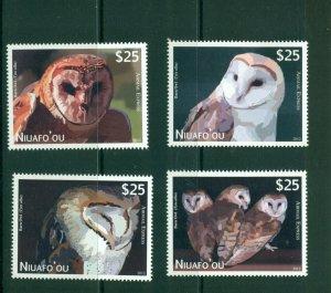 Tonga - Niuafo'ou #CE1-4 (2012 Owls High Value set) VFMNH CV $84.00