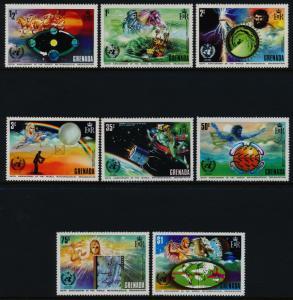 Grenada 490-7 MNH WMO, Satellite, Weather Map, Horse