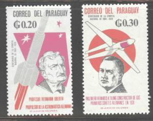 Paraguay Scott 945-946 MH* Oberth and Tiling Aeronautic researchers