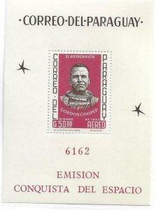 1962   PARAGUAY  -   GORDON COOPER  -  AUSTRONAUT  -  MNH