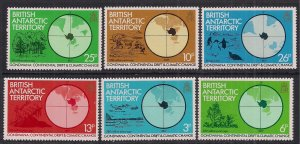 British Antarctic Territory 1982 QE2 Set Gondwana Umm  SG 103 - 108  ( M714 )
