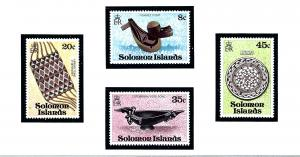 Solomon Islands MNH 385-8 Artifacts 1979