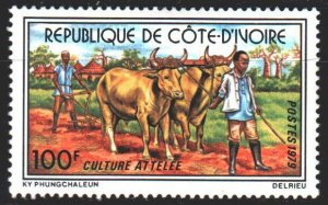 Ivory Coast. 1979. 580. Agriculture, Farmer, Cattle. MLH.