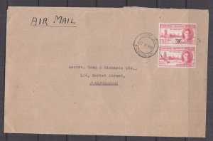 NORTHERN RHODESIA, 1948 Airmail cover, KGVI, DONGOLA to South Africa.