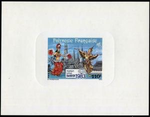 HERRICKSTAMP FRENCH POLYNESIA Sc.# C201 Bangkok Deluxe Stamp S/S