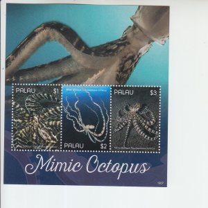 2019 Palau Mimic Octopus MS3 (Scott NA) MNH