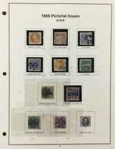 U.S. Regular Issue stamps from 1860-1888    Scott  CV $9485.00    AB