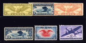 US STAMP BOB AIR MAIL MH/OG STAMP COLLECTION LOT