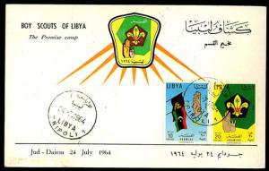 LIBYA -1964 Boy Scouting FD Presentation Card