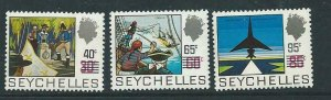SEYCHELLES SG303/5 1971 SURCHARGE SET  MNH