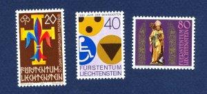 LIECHTENSTEIN - # 71,  712, 713 - VFMNH - Boy Scouts, Disabled, St Thiodul 1981
