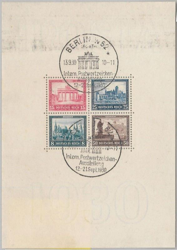 56147  -   GERMANY -  POSTAL HISTORY:  MICHEL BLOCK 1 Used - VERY FINE!!