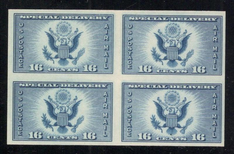 #771 - Air Post Special Delivery-Imperf- Block of 4 - Unused