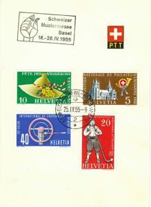 Switzerland Scott 351-354 Used.
