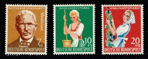 GERMANY SEMI POSTAL STAMP 1958 Charity Stamps  MH/OG 3 stamps