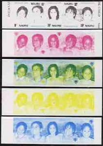 Nauru 1979 Year of the Child strip of 5 x 5 imperf progre...