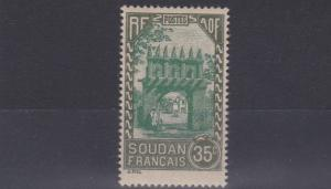 FRENCH COLONIES SUDAN  1931  35C  GREEN & GREEN       MH