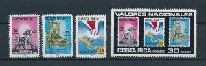 [104394] Costa Rica 1985 National values birds doves  MNH