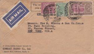 India 1/2a and 8a KGV and 1a KGV Inauguration of New Delhi 1932 Kalbadevi, Bo...