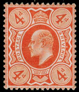 SG241 SPEC M25(3), 4d orange-red, NH MINT. Cat £45.
