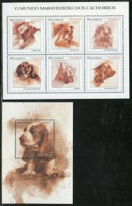 MOZAMBIQUE DOGS  SHEET & S/S MINT NEVER HINGED