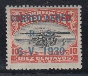 Bolivia 1924 Aviation School 10c Zeppelin Overprint MNH. Scott C12