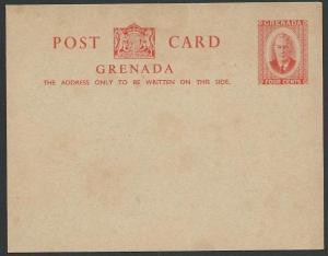 GRENADA GVI scarce 4c postcard unused......................................51450