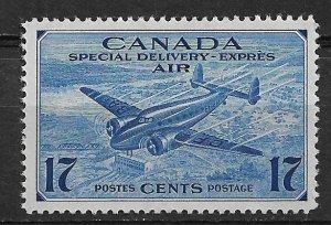 1943 Canada CE2 17¢ Trans-Canada Airplane MH