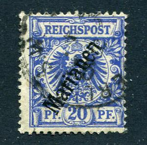 GR Lot 10225 German Colonie 1900 MICHEL 4 II - 20pf Marianen Stamp