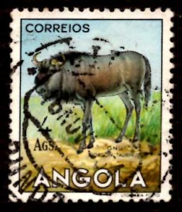 Angola 1953 African Brindled gnu Wild Animals 4a Scott.375 Used (#6)