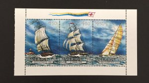 Sweden 1992 #1946-8  Booklet Pane, Europa-Sailing, MNH.