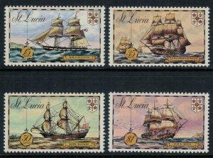 St. Lucia #337-40a* NH  CV $5.50 Complete set & Souvenir sheet