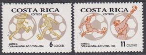 Costa Rica Sc #372-373 MNH