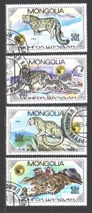 Mongolia. 1985. 1694-97. Leopard fauna. USED.