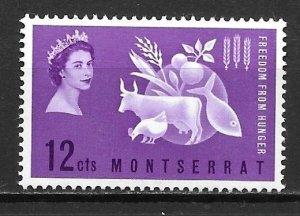 Montserrat 150 Hunger single MNH