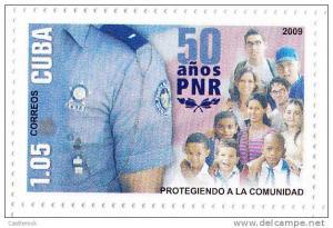RT)2009 CUBA-CARIBE, 50TH ANIV. PRN/POLICE, MNH