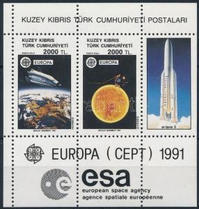 Turkish Cyprus stamp Europa CEPT: Space Research block MNH 1991 Mi 9 WS243741