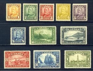 CANADA #149-59 Mint NH - 1928-9 Pictorial Set