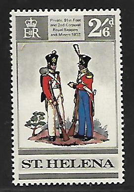 ST HELENA 231 MINT HING BRITISH UNIFORMS