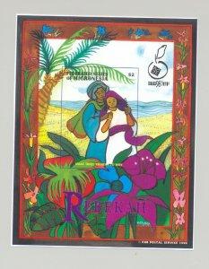 Micronesia #294 Rebekah, Judaica 1v S/S Imperf Chromalin Proof