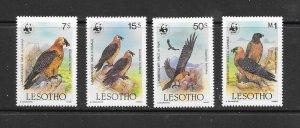 BIRDS - LESOTHO #512-15  MNH