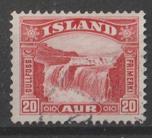 Iceland 1931/1932 Gullfoss (Golden Falls) 20a (1/6) USED