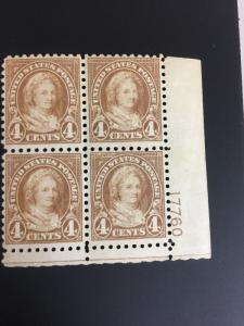 585 .04 Washington Perf 10. Plate Block Of 4 VF-NH Cat $425