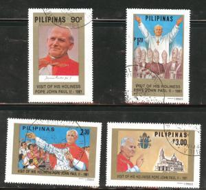 PhilippiL Scott 1507-1510 Used Pope John Paul 2 set 1981