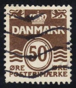 Denmark #494 Numeral, used (0.25)