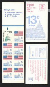 BK131 MNH 1623a Complete Booklet, FREE SHIPPING